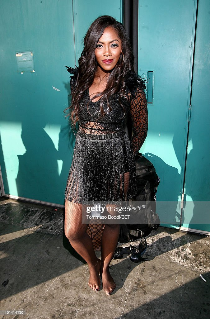Singersongwriter Tiwa Savage attends the Music Around the Globe during the 2014 BET Experience At LA LIVE on June 28 2014 in Los Angeles California
