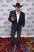 Singersongwriter Toby Keith poses backstage at the Songwriters Hall Of Fame 46th Annual Induction And Awards at Marriott Marquis Hotel on June 18...