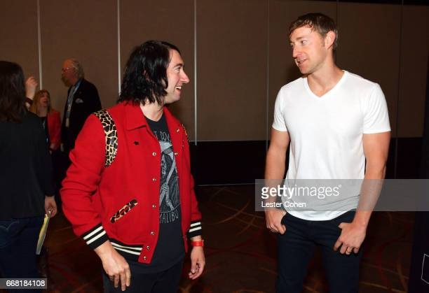 Singersongwriter Tom Higgenson and songwriter Ashley Gorley at the ASCAP Annual Membership Meeting and EXPO Kickoff during the 2017 ASCAP 'I Create...
