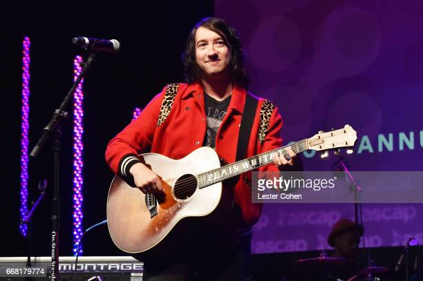 Singersongwriter Tom Higgenson performs onstage at the ASCAP Annual Membership Meeting and EXPO Kickoff during the 2017 ASCAP 'I Create Music' EXPO...