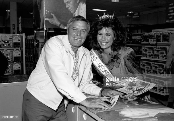 Singer/Songwriter Tom T Hall signs autographs and meets with fans at Turtle's Records Tapes in Atlanta Georgia April 03 1985