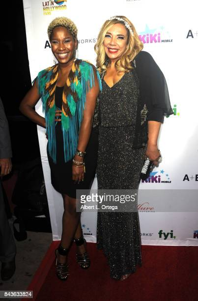 Singer/songwriter Tomi Townsend and Host/Executive Producer Kiki Melendez arrive for the Premiere Of Latin Hollywood Films And FYI Network's 'Kiki...