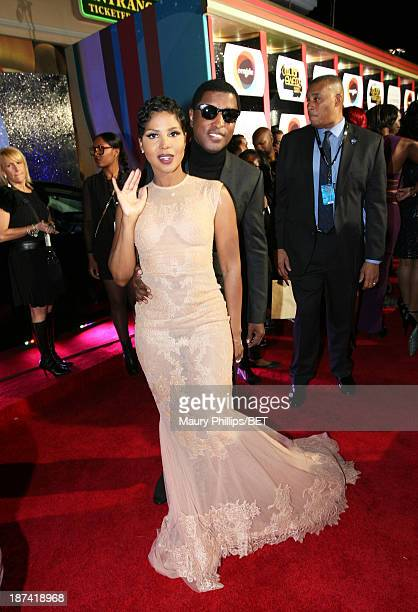Singer/songwriter Toni Braxton and musician Kenneth 'Babyface' Edmonds attend the Soul Train Awards 2013 at the Orleans Arena on November 8 2013 in...