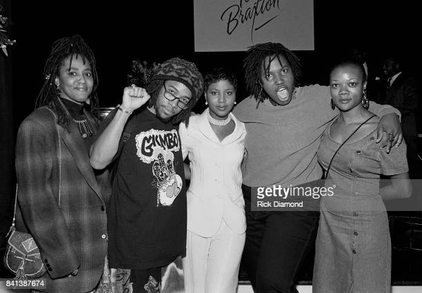 Singer/Songwriter Toni Braxton with 1993 Grammy Best Rap Performance by a Duo or Group Arrested Development during LaFace Records Toni Braxton...