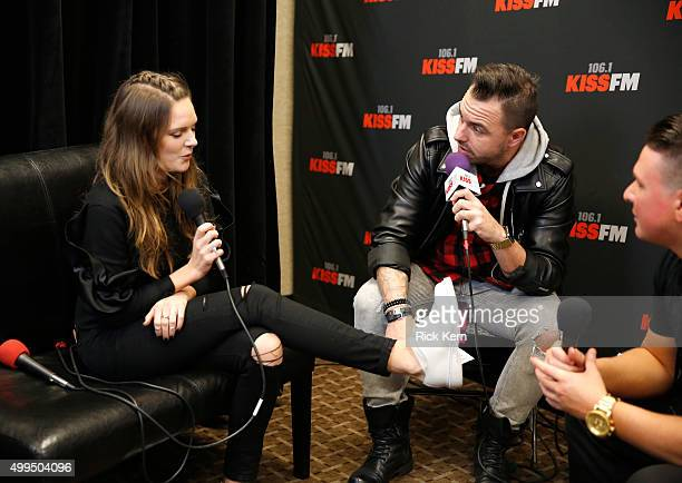 Singer/songwriter Tove Lo attends 1061 KISS FM's Jingle Ball 2015 presented by Capital One at American Airlines Center on December 1 2015 in Dallas...