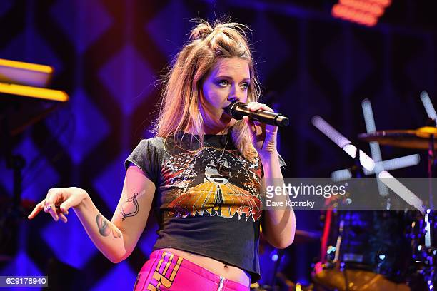 Singersongwriter Tove Lo performs on stage during KISS 108's Jingle Ball 2016 at TD Garden on December 11 2016 in Boston Massachusetts
