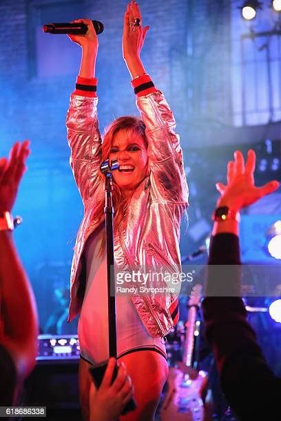 Singersongwriter Tove Lo performs onstage at MTV's 'Wonderland' LIVE Show on October 27 2016 in Los Angeles California