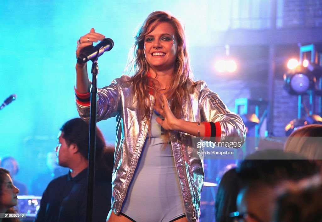 Singer-songwriter Tove Lo performs onstage at MTV's 'Wonderland' LIVE Show on October 27, 2016 in Los Angeles, California.