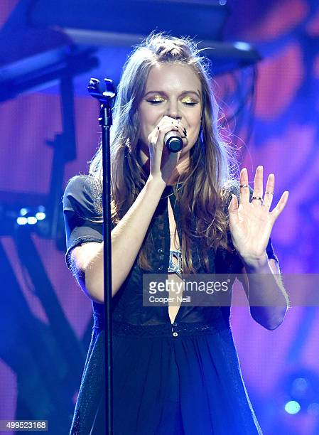 Singer/songwriter Tove Lo performs onstage during 1061 KISS FM's Jingle Ball 2015 presented by Capital One at American Airlines Center on December 1...