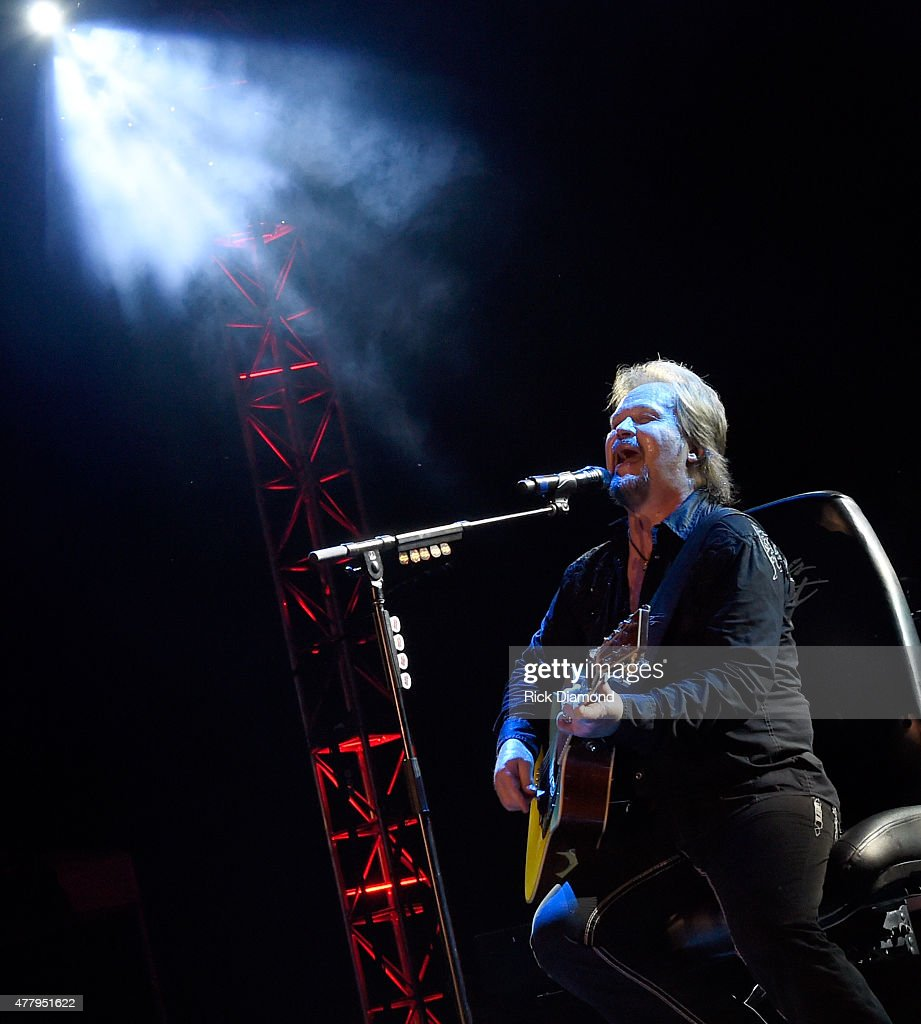 Singer/Songwriter Travis Tritt performs during The 4th Annual Pepsi's Rock The South Festival - Day 2 at Heritage Park in Cullman, Alabama.