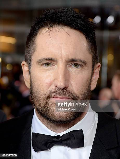 Singersongwriter Trent Reznor attends the 72nd Annual Golden Globe Awards at The Beverly Hilton Hotel on January 11 2015 in Beverly Hills California