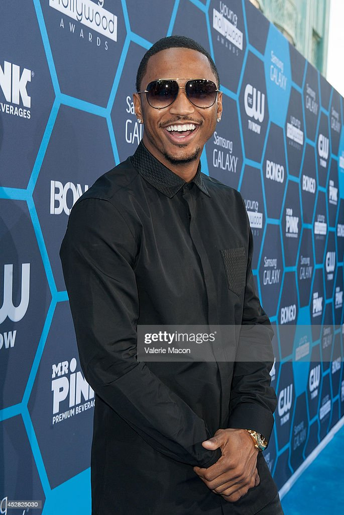 Singer/songwriter <a gi-track='captionPersonalityLinkClicked' href=/galleries/search?phrase=Trey+Songz&family=editorial&specificpeople=674835 ng-click='$event.stopPropagation()'>Trey Songz</a> arrives at the 16th Annual Young Hollywood Awards at The Wiltern on July 27, 2014 in Los Angeles, California.