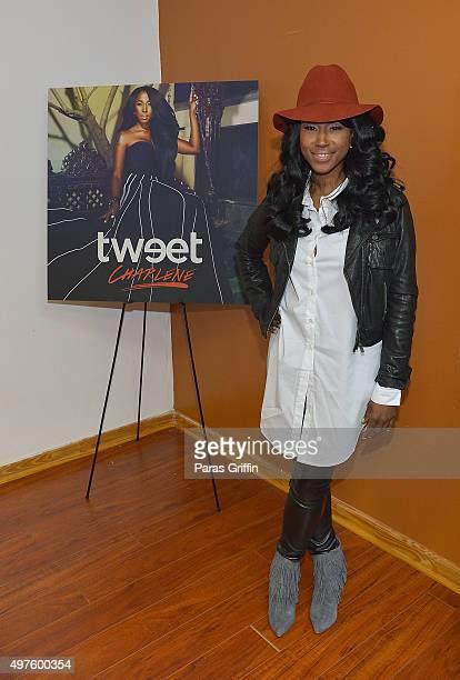 Singer/songwriter Tweet attends her listening party at Artist Factory on November 17 2015 in Atlanta Georgia
