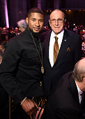 Singersongwriter Usher and Clive Davis attend Angel Ball 2015 hosted by Gabrielle's Angel Foundation at Cipriani Wall Street on October 19 2015 in...