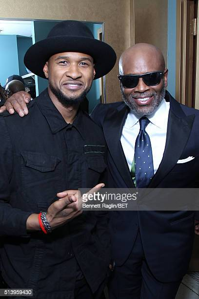 Singersongwriter Usher and honoree LA Reid attend BET Honors 2016 at Warner Theatre on March 5 2016 in Washington DC