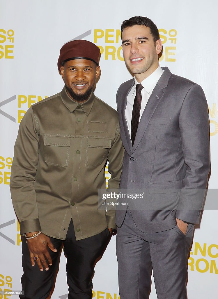 Singer/songwriter Usher and Pencils of Promise founder and CEO Adam Braun attend the Pencils Of Promise Gala 2015 at Cipriani Wall Street on October...