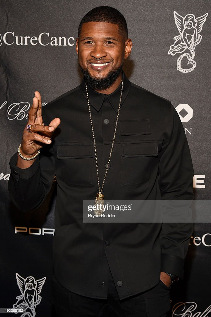 Singer-songwriter <a gi-track='captionPersonalityLinkClicked' href=/galleries/search?phrase=Usher+-+Singer&family=editorial&specificpeople=201477 ng-click='$event.stopPropagation()'>Usher</a> attends Angel Ball 2015 hosted by Gabrielle's Angel Foundation at Cipriani Wall Street on October 19, 2015 in New York City.
