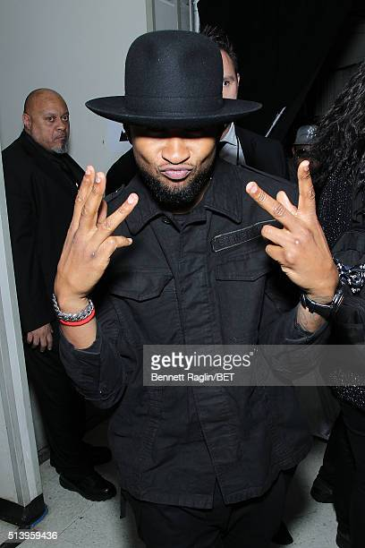 Singersongwriter Usher attends BET Honors 2016 at Warner Theatre on March 5 2016 in Washington DC