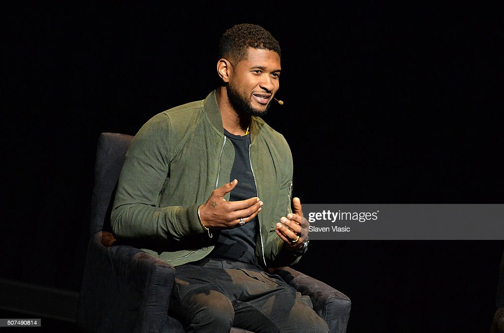 Singer/songwriter Usher attends the 2016 'Tina Brown Live Media's American Justice Summit' at Gerald W Lynch Theatre on January 29 2016 in New York...
