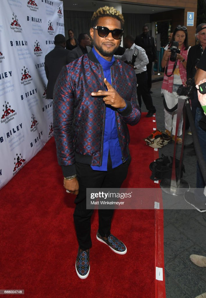 Singer/songwriter Usher attends the B. Riley & Co. 8th Annual 'Big Fighters, Big Cause' Charity Boxing Night benefiting the Sugar Ray Leonard Foundation at the Loews Santa Monica Beach Hotel on May 24, 2017 in Santa Monica, California.