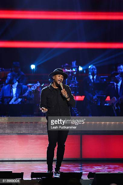 Singersongwriter Usher attends the BET Honors 2016 at Warner Theatre on March 5 2016 in Washington DC