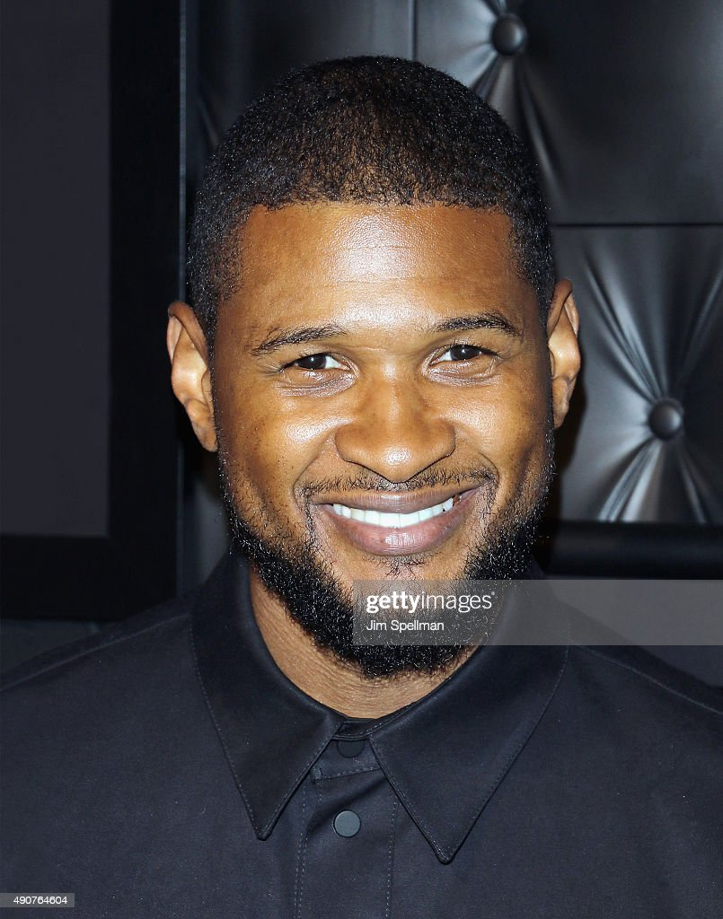 Singer/songwriter <a gi-track='captionPersonalityLinkClicked' href=/galleries/search?phrase=Usher+-+Singer&family=editorial&specificpeople=201477 ng-click='$event.stopPropagation()'>Usher</a> attends the JCPenney x Michael Strahan launch party at JCPenney on September 30, 2015 in New York City.