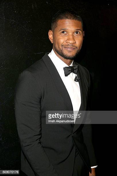 Singersongwriter Usher attends the Samsung Pay New Year's Eve Party at The Fonda Theatre on December 31 2015 in Los Angeles California