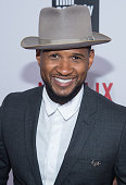 Singer/Songwriter Usher attends the 'What Happened Miss Simone' New York Premiere at The Apollo Theater on June 1 2015 in New York City
