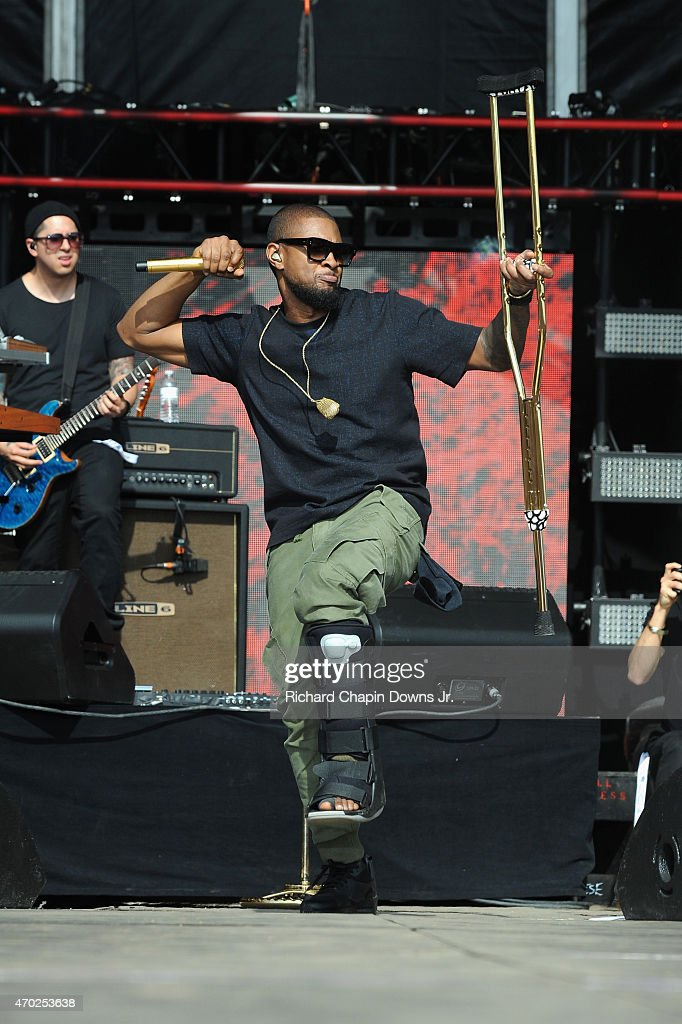 Singersongwriter Usher performs onstage during Global Citizen 2015 Earth Day on National Mall to end extreme poverty and solve climate change on...