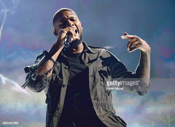 Singersongwriter Usher performs onstage during TIDAL X 1020 Amplified by HTC at Barclays Center of Brooklyn on October 20 2015 in New York City