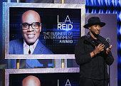 Singersongwriter Usher speaks on stage during the BET Honors 2016 Show at Warner Theatre on March 5 2016 in Washington DC