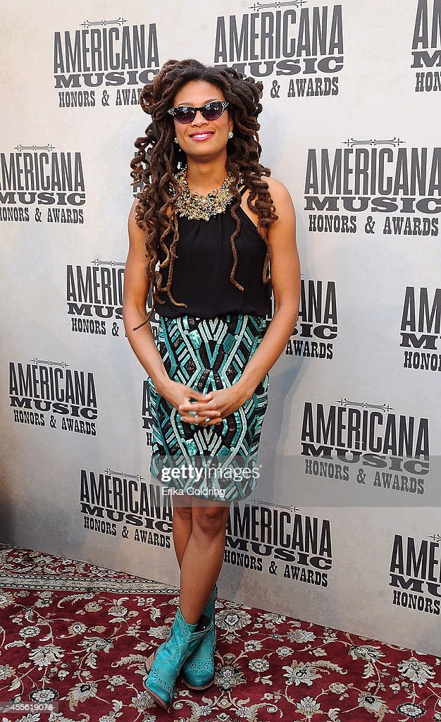 Singer-songwriter <a gi-track='captionPersonalityLinkClicked' href=/galleries/search?phrase=Valerie+June&family=editorial&specificpeople=5801252 ng-click='$event.stopPropagation()'>Valerie June</a> attends the 13th annual Americana Music Association Honors and Awards Show at the Ryman Auditorium on September 17, 2014 in Nashville, Tennessee.