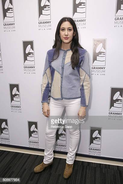 Singer/songwriter Vanessa Carlton attends An Evening With Vanessa Carlton at The GRAMMY Museum on January 20 2016 in Los Angeles California