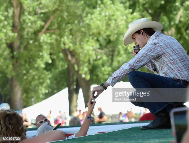 Singer/Songwriter William Michael Morgan performs during Kicker Country Stampede Day 2 at Tuttle Creek State Park on June 23 2017 in Manhattan Kansas