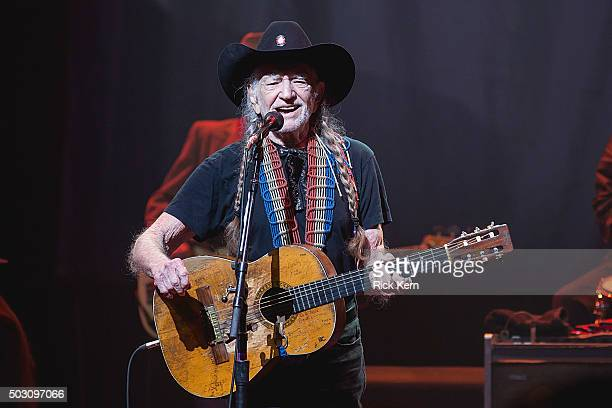 Singersongwriter Willie Nelson performs in concert at ACL Live on December 31 2015 in Austin Texas