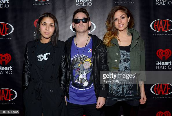 Singer/songwriter Yasmine Yousaf producer Kris 'Rain Man' Trindl and singer/songwriter Jahan Yousaf of Krewella attend a private party celebrating...