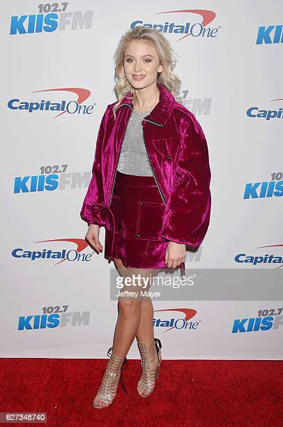 Singersongwriter Zara Larsson attends 1027 KIIS FM's Jingle Ball 2016 at Staples Center on December 2 2016 in Los Angeles California