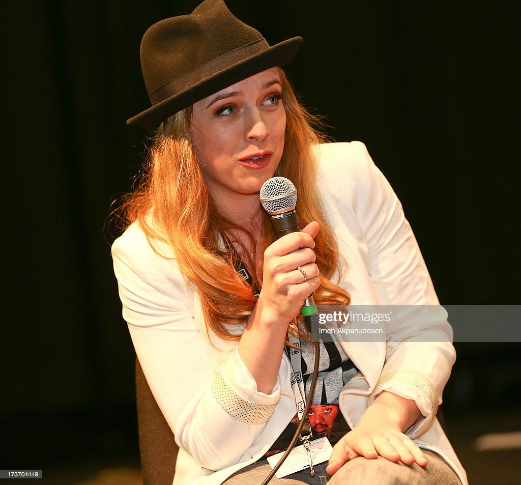 Singer/songwriter ZZ Ward speaks onstage at the 9th Annual GRAMMY Camp at University of Southern California on July 16, 2013 in Los Angeles, California.