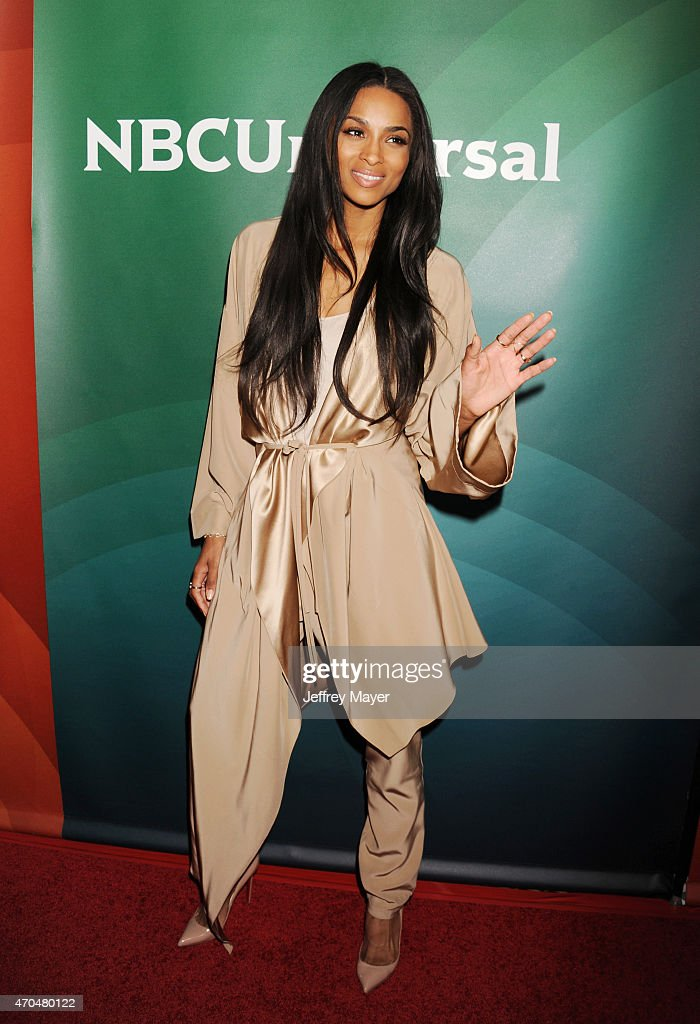 Singer/songwriter/actress Ciara attends the 2015 NBCUniversal Summer Press Day held at the The Langham Huntington Hotel and Spa on April 02 2015 in...