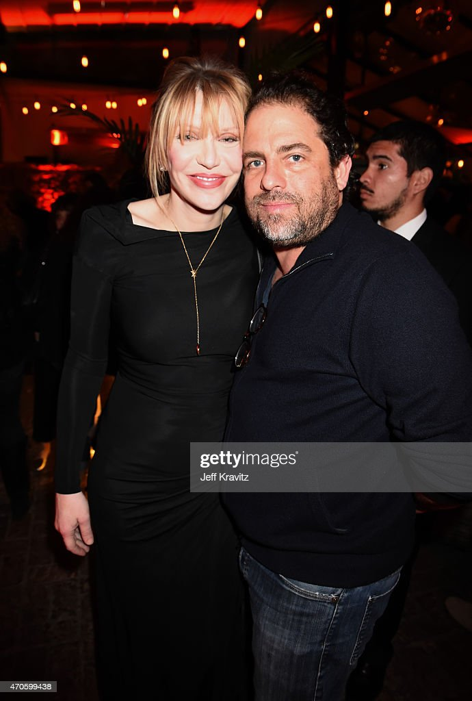 Singer/songwriter/actress Courtney Love (L) and Filmmaker Brett Ratner attend HBO's 'Kurt Cobain: Montage Of Heck' Los Angeles Premiere After Party at the Sadie Kitchen and Lounge on April 21, 2015 in Hollywood, California.