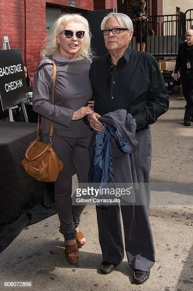 Singersongwriter/actress Debbie Harry and John Reinhold are seen arriving at Marc Jacobs Spring 2017 fashion show during New York Fashion Week at...