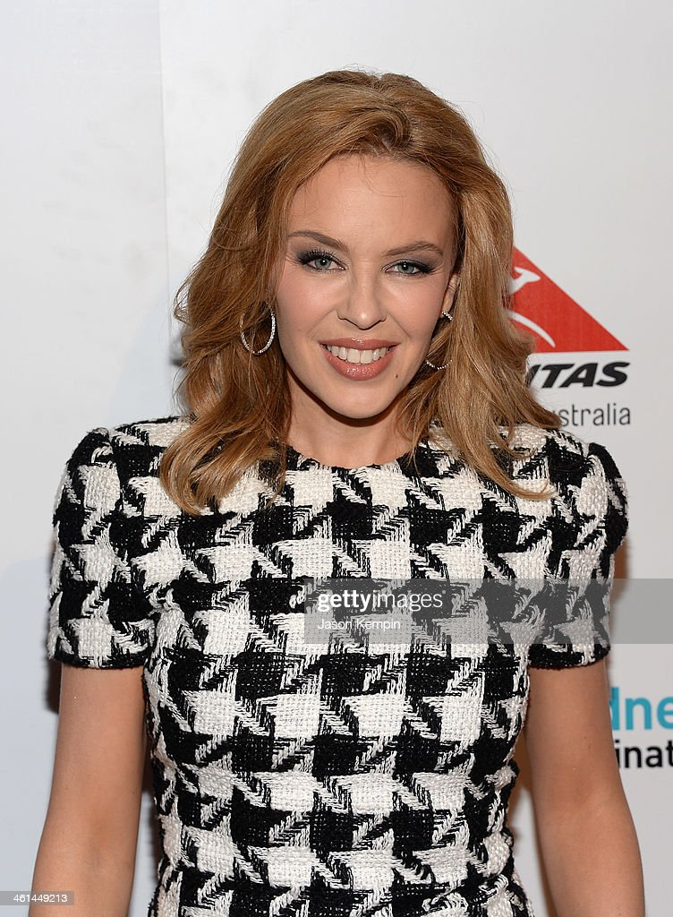 Singer/Songwriter/Actress <a gi-track='captionPersonalityLinkClicked' href=/galleries/search?phrase=Kylie+Minogue&family=editorial&specificpeople=201671 ng-click='$event.stopPropagation()'>Kylie Minogue</a> attends the Qantas Spirit Of Australia Party on January 8, 2014 in Beverly Hills, California.