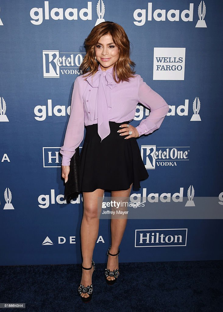 Singersongwriter/dancer Paula Abdul attends the 27th Annual GLAAD Media Awards at the Beverly Hilton Hotel on April 2 2016 in Beverly Hills California
