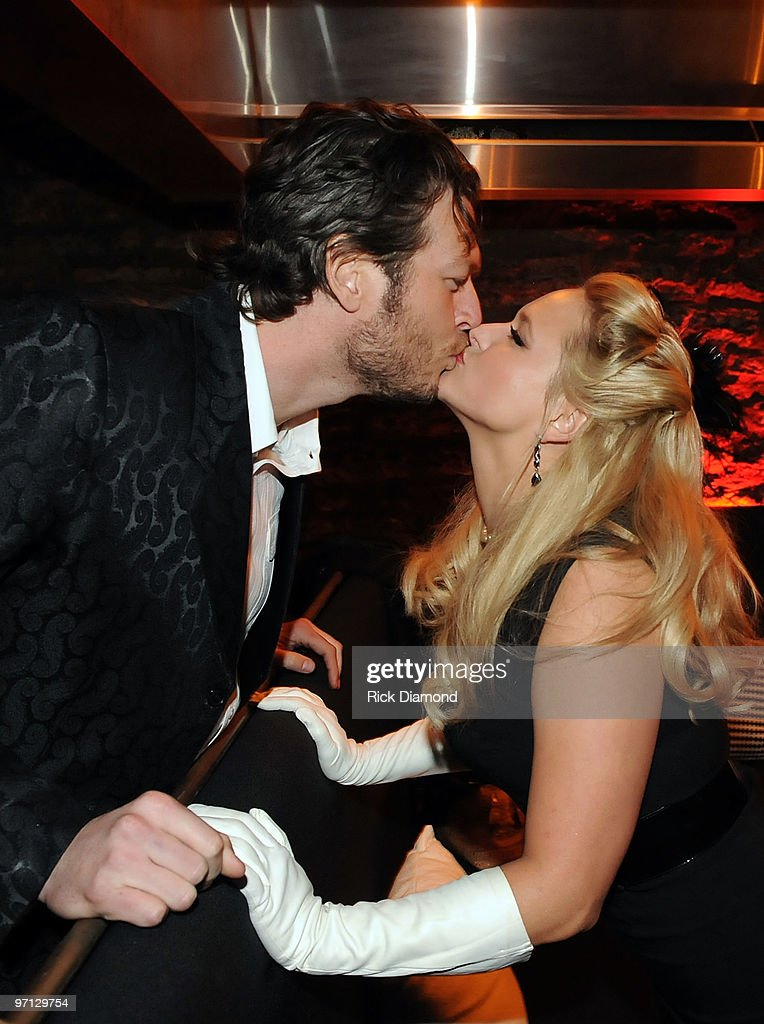 Singer/Songwriter/Honoree Miranda Lambert and Singer/Songwriter/Boyfriend Blake Shelton at BMI Honors Miranda Lambert's for her First #1single with a 1940's style bash and a few hundred of her friends at The Cellar on February 26, 2010 in Nashville, Tennessee.