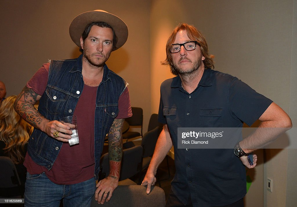 Singer/Songwriter/Producer <a gi-track='captionPersonalityLinkClicked' href=/galleries/search?phrase=Butch+Walker&family=editorial&specificpeople=2219190 ng-click='$event.stopPropagation()'>Butch Walker</a> and Producer Brendan O'Brien during GRAMMY GPS - A Road Map For Today's Music Pro at W Atlanta Buckhead on September 8, 2012 in Atlanta, Georgia.