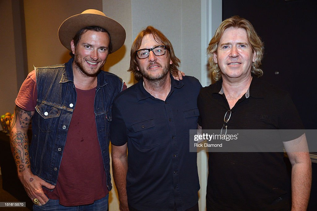 Singer/Songwriter/Producer <a gi-track='captionPersonalityLinkClicked' href=/galleries/search?phrase=Butch+Walker&family=editorial&specificpeople=2219190 ng-click='$event.stopPropagation()'>Butch Walker</a>, Producer Brendan O'Brien and Producer <a gi-track='captionPersonalityLinkClicked' href=/galleries/search?phrase=Steve+Lillywhite&family=editorial&specificpeople=842749 ng-click='$event.stopPropagation()'>Steve Lillywhite</a> during GRAMMY GPS - A Road Map For Today's Music Pro at W Atlanta Buckhead on September 8, 2012 in Atlanta, Georgia.