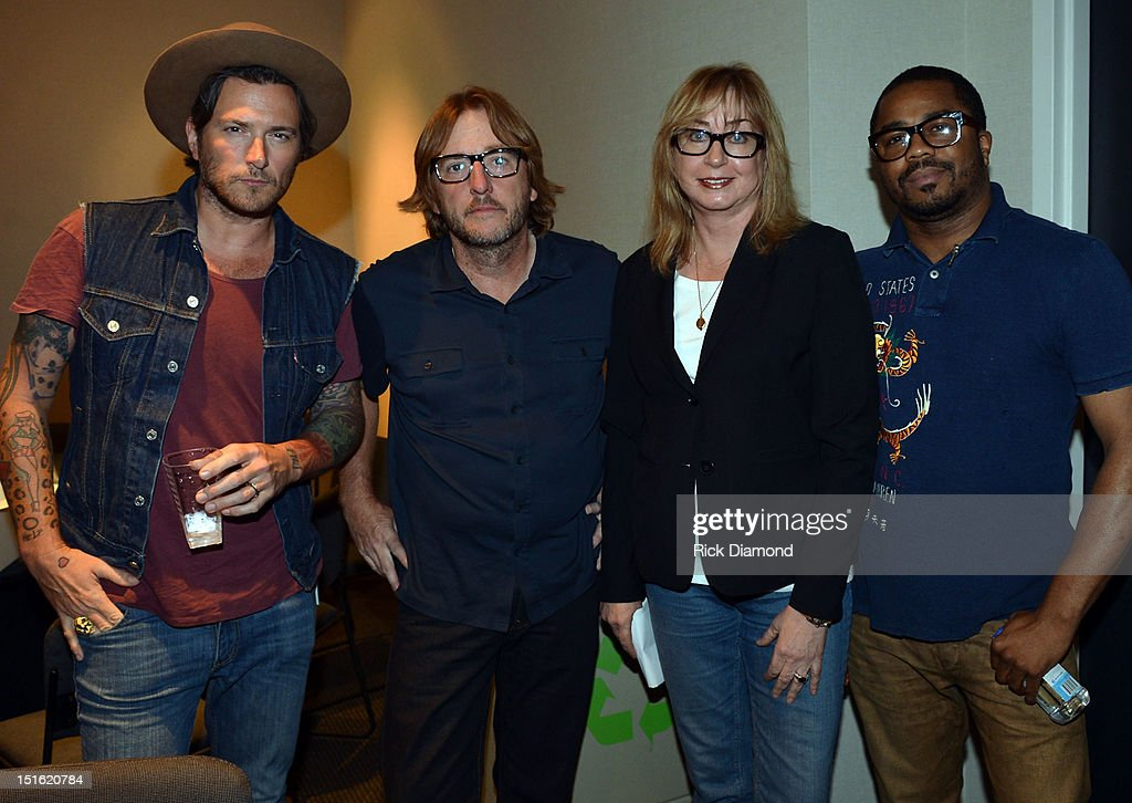 Singer/Songwriter/Producer Butch Walker, Producer Brendan O'Brien, Senior Executive Director P&E Wing of The Recording Academy Maureen Droney and Producer Justin 'Just Blaze' Smith during GRAMMY GPS - A Road Map For Today's Music Pro at W Atlanta Buckhead on September 8, 2012 in Atlanta, Georgia.