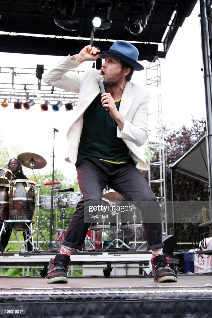 Singer-songwriter/rapper Jovanotti performs on day 2 of the Great GoogaMooga in Prospect Park on May 18, 2013 in New York City.