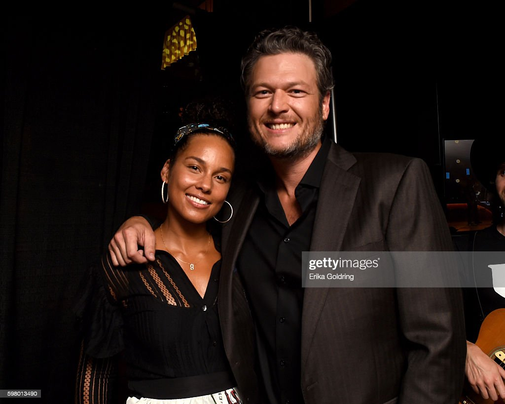 Singer-songwriters Alicia Keys and Blake Shelton attend the 10th Annual ACM Honors at the Ryman Auditorium on August 30, 2016 in Nashville, Tennessee.