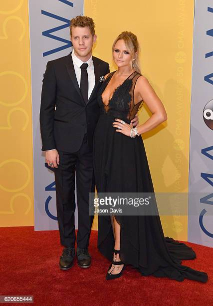 Singersongwriters Anderson East and Miranda Lambert attend the 50th annual CMA Awards at the Bridgestone Arena on November 2 2016 in Nashville...